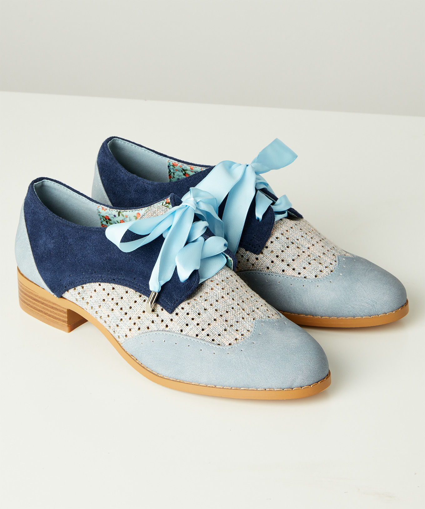 Joe Browns Womens Lace Up Summery Cut Out Brogue Shoes
