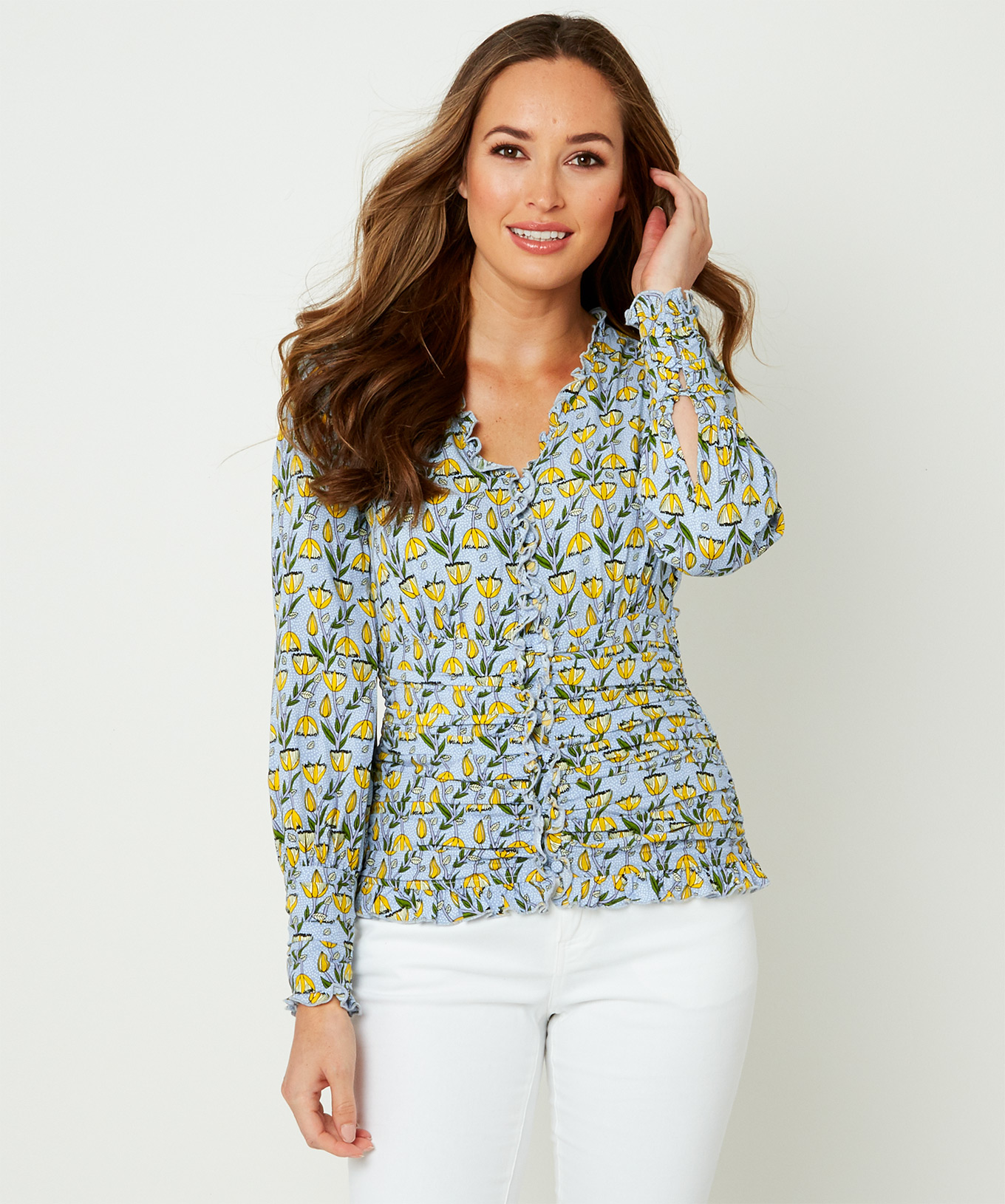 Joe Browns Womens Vintage Style Blouse with Ruffle Detail
